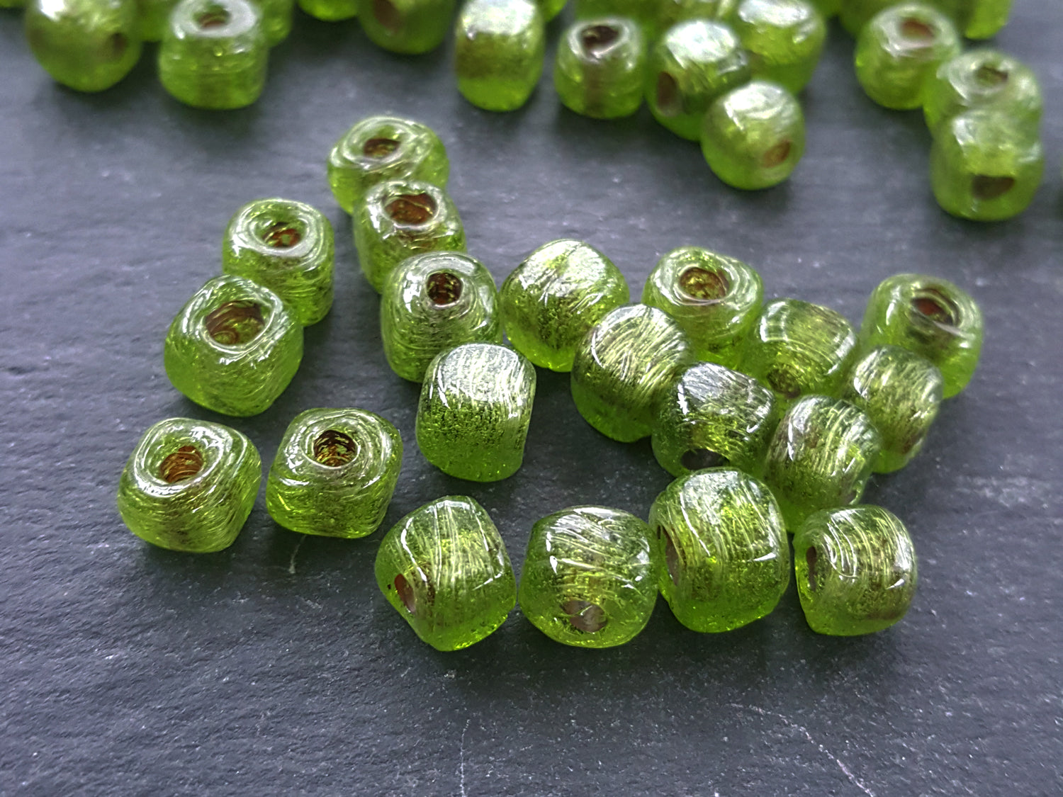 green shape glass products cube beads tone olive in artisan square buy rustic traditional bulk shades dice bead handmade turkish
