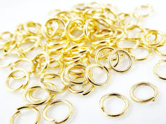 50 pcs - 6 mm Gold Plated Brass jumprings