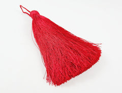 Extra Large Thick Red Thread Tassels - 4.4 inches - 113mm - 1 pc