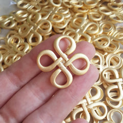 2 Celtic Square Knot Pendant Connector - 22k Matte Gold Plated