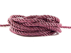 3.5mm Sunset Purple Twisted Rayon Satin Rope Silk Braid Cord - 3 Ply Twist - 1 meters - 1.09 Yards - No:17
