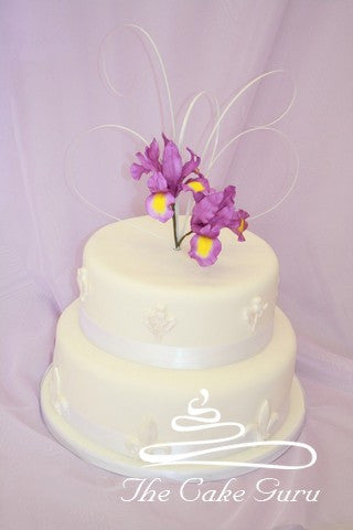 Purple Iris Wedding Cake