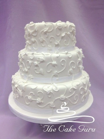 Textured Piping Wedding Cake