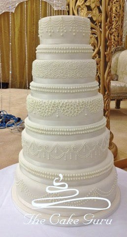 Detailed Royal Icing Wedding Cake