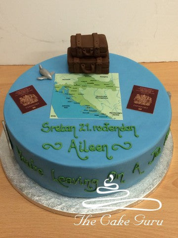 Leaving on a Jet Plane Cake