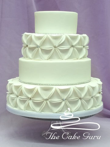 Geometric Design Diamante Wedding Cake