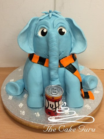 Blue Elephant 18th Birthday Cake