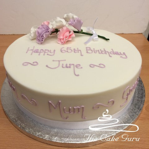 Sweet Peas Spray Birthday Cake