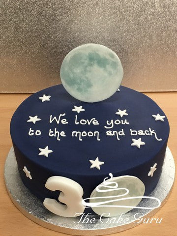 Love You To The Moon and Back Cake