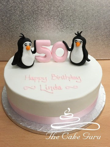 Penguin Pair Birthday Cake