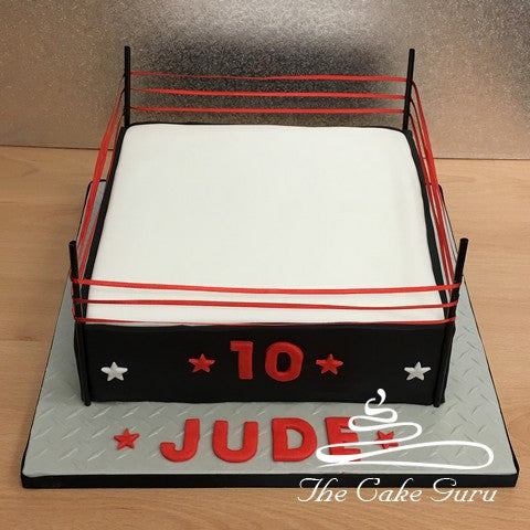 Wrestling Ring Birthday Cake