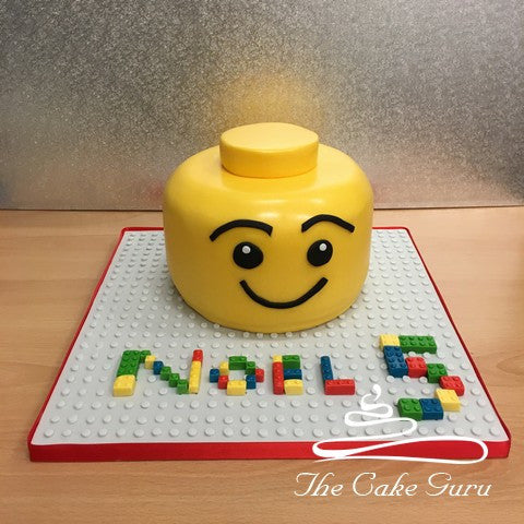Building Block Head Cake