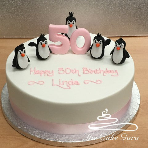 Penguin Pals Birthday Cake