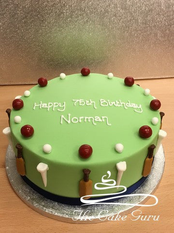 Cricket and Golf Fan cake
