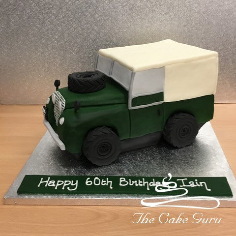 Land Rover Discovery Carved Cake