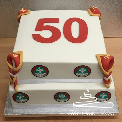 Scout Gang Show 50th Anniversary Cake
