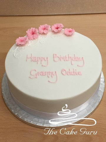 Pastel Blossoms Birthday Cake