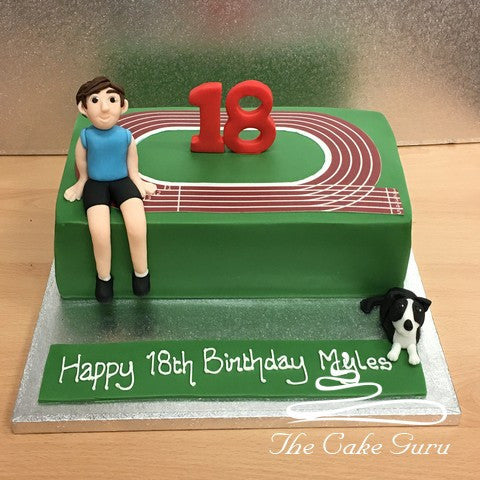 Running Track Birthday Cake