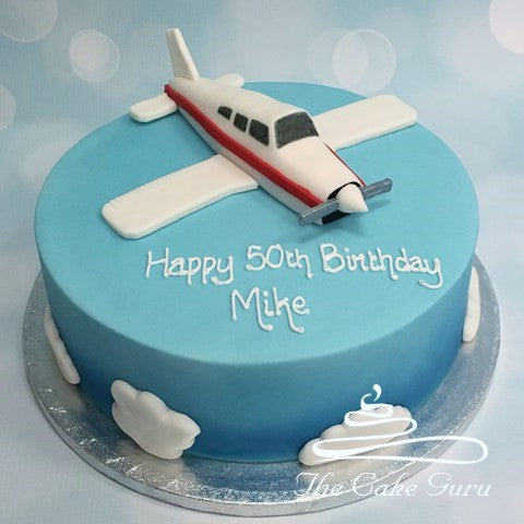 Piper Warrior Aircraft Birthday Cake
