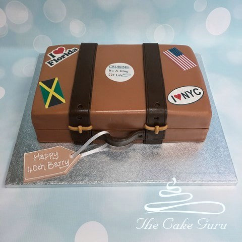 Suitcase Birthday Cake
