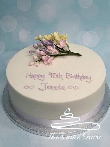 Freesia Spray Birthday Cake