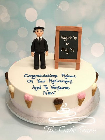 School Teacher Retirement Cake