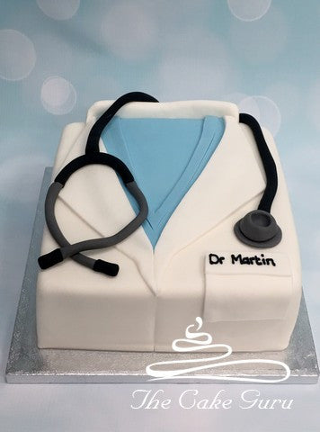 Doctor's Lab Coat Cake