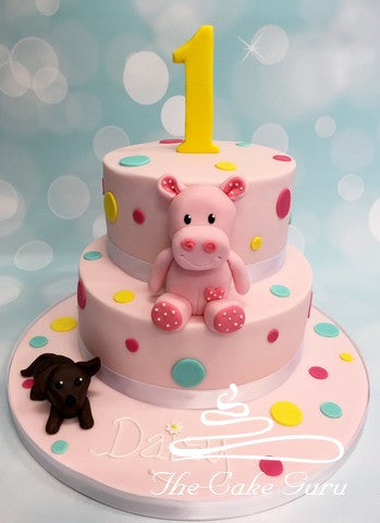 Hippo Toy Birthday Cake