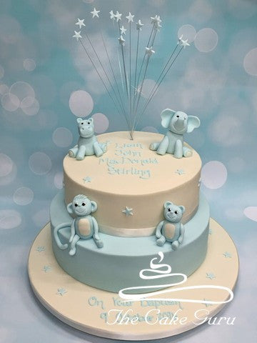 Baby Animals Baptism Cake