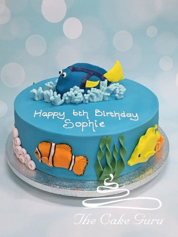 Blue Tang Tropical Fish Cake