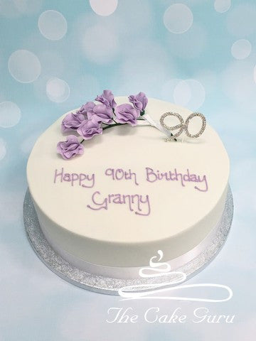 Lavender Sweet Pea Spray Birthday Cake