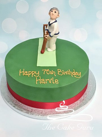 Cricketer Birthday Cake