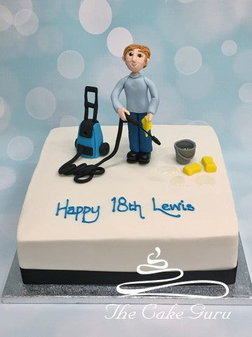 Power Washer Birthday Cake