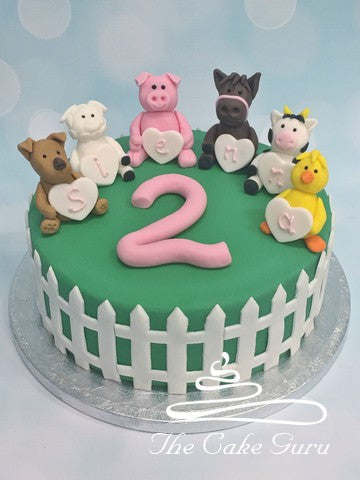 Farmyard Friends Birthday Cake