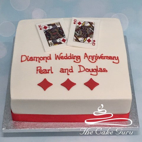 King and Queen of Diamonds Anniversary Cake