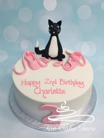 Ballet Shoes and Pussy Cat Birthday Cake
