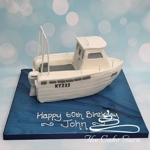 Carved Boat Birthday Cake