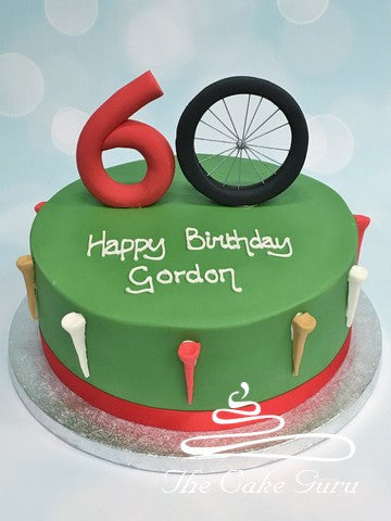 Bicycle Wheel Number Cake