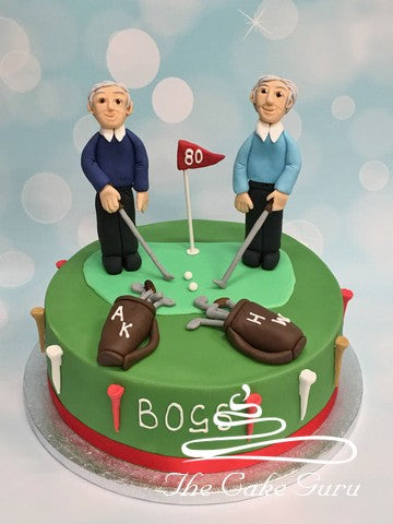 Golfers Joint Birthday Cake