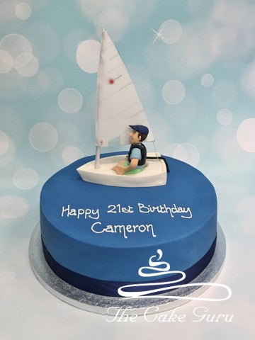 Laser Sailor Birthday Cake