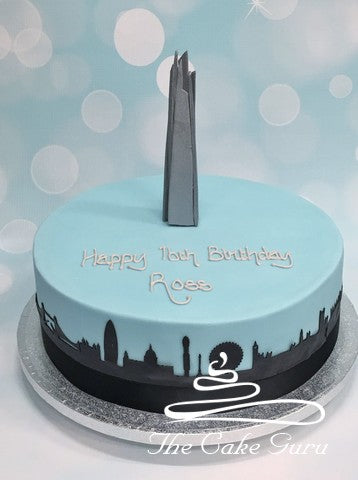 London Shard Birthday Cake