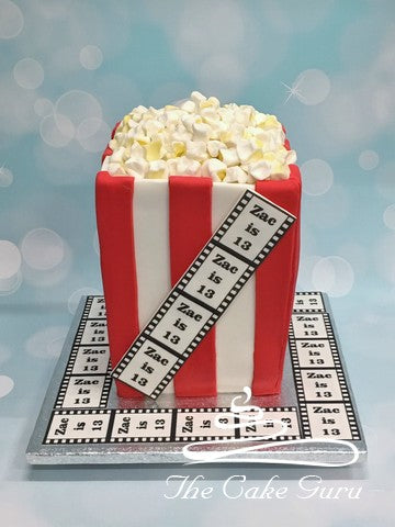 Popcorn Bucket Birthday Cake