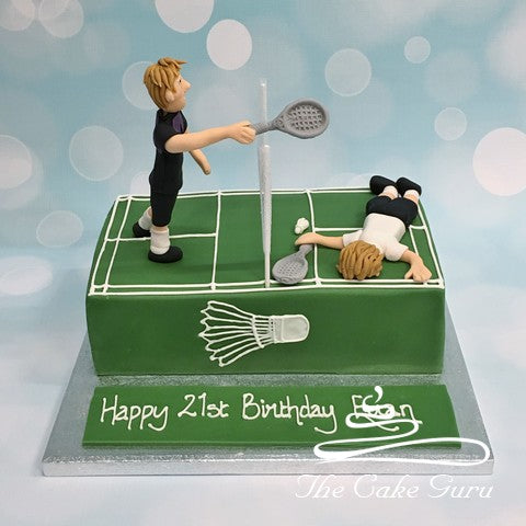 Badminton Players Birthday Cake