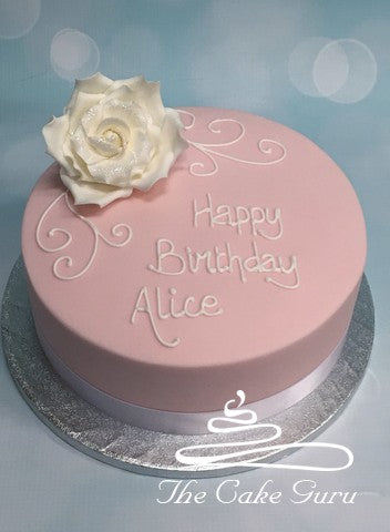 Glitter Rose Birthday Cake