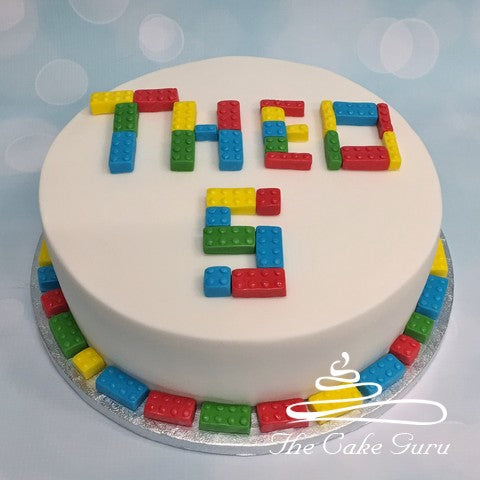 Building Blocks Birthday Cake