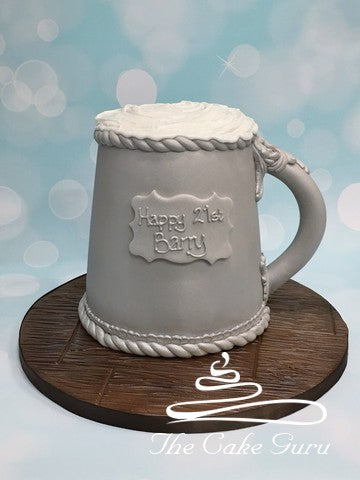 Beer Tankard 21st Birthday Cake