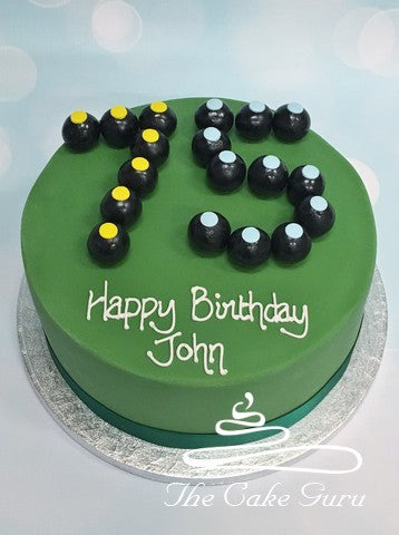 Bowls Numbers Birthday Cake