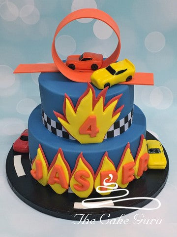 Racing Cars Birthday Cake