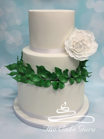 Foliage Wreath Wedding Cake