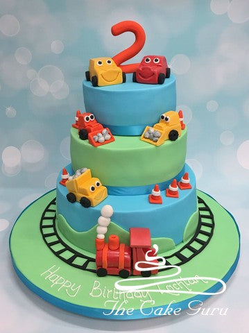 Train and Trucks Birthday Cakes